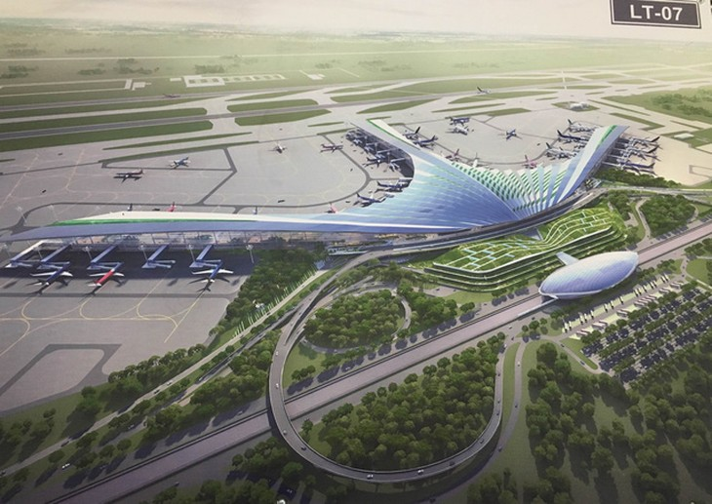 Phương án số 7 được chấm điểm cao nhất trong 9 phương án dự thi, với ý tưởng là hình ảnh lá cọ - mang đậm văn hóa vùng sông nước. ACV đã đề xuất lựa chọn thiết kế này làm kiến trúc sân bay Long Thành.