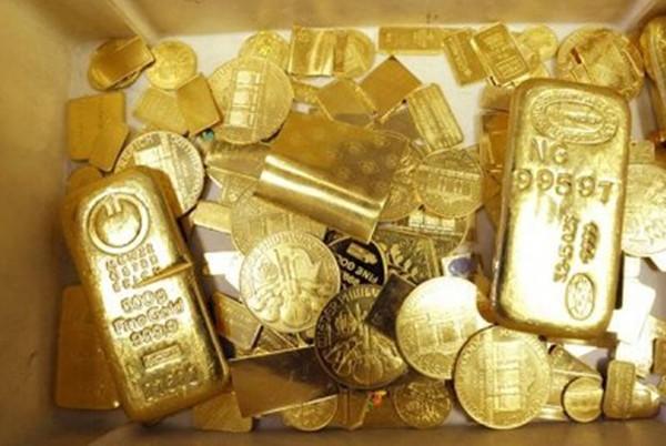 Giá vàng giảm trong tuần này. Ảnh:AFP.