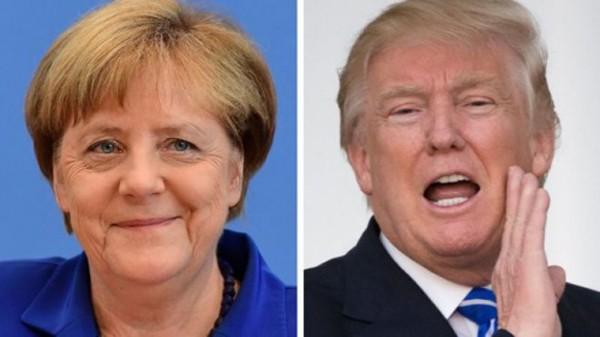 Thủ tướng Đức Angela Merkel và Tổng thống Mỹ Donald Trump. Ảnh:BBC
