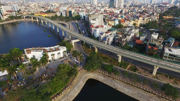 Tuyến đường sắt đô thị Cát Linh - Hà Đôngsẽ chạy thử nghiệm vào cuối tháng 9 tới. Ảnh:Giang Huy