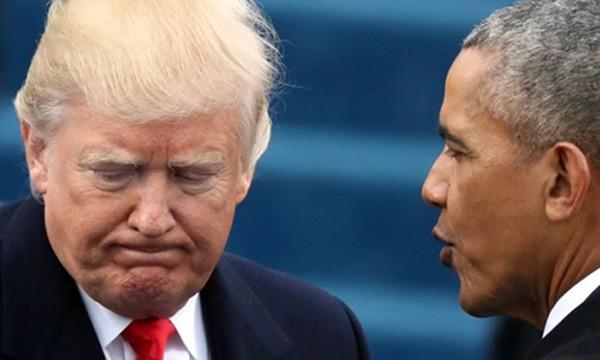Tổng thống Mỹ Donald Trump, trái, cáo buộc người tiền nhiệm Barack Obama nghe lén. Ảnh:Reuters