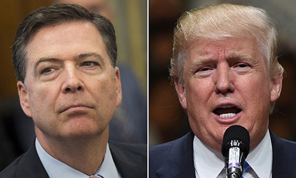 Giám đốc FBI James Comey, trái, yêu cầu bác cáo buộc của Tổng thống Donald Trump với ông Barack Obama. Ảnh:Politicalinsider