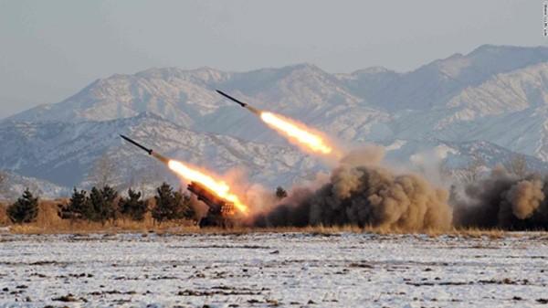 Một vụ phóng tên lửa Triều Tiên. Ảnh:CNN
