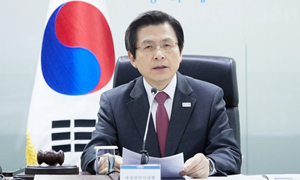 Thủ tướng kiêm quyền Tổng thống Hàn Quốc Hwang Kyo-ahn. Ảnh:Reuters.