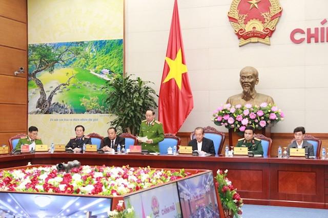 Thượng tướng Lê Quý Vương - Thứ trưởng Bộ Công an phát biểu tại hội nghị.