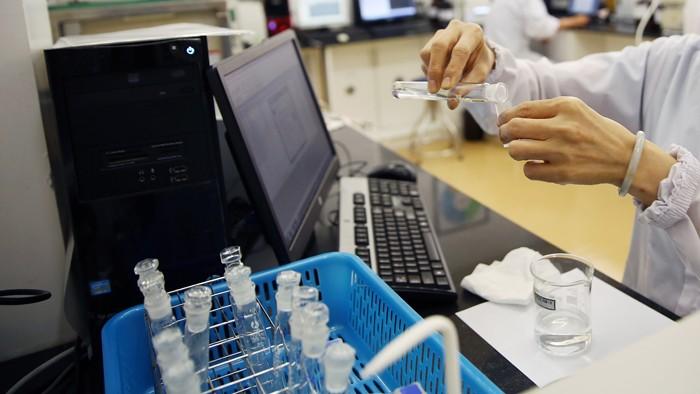 Trong 2 năm 2015 - 2016, Dược Pha Nam liên tiếp trúng nhiều gói thầu cung cấp 2 sinh phẩm y tế Công ty chưa đăng ký kinh doanh. Ảnh: Lê Tiên