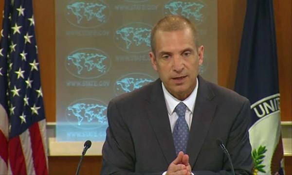 Người phát ngôn Bộ Ngoại giao Mỹ Mark Toner. Ảnh:Reuters