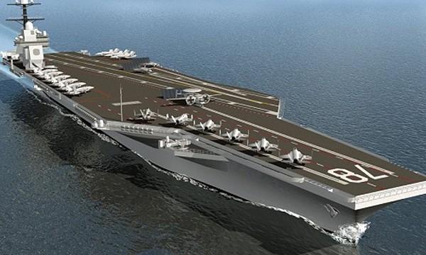 Tàu sân bayUSS Gerald Ford của hải quân Mỹ. Ảnh:Sputnik