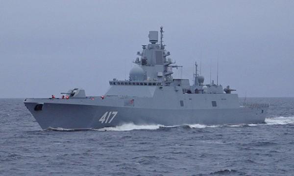 Tàu hộ vệĐô đốc Gorshkov của hải quân Nga. Ảnh:Navy Recognition