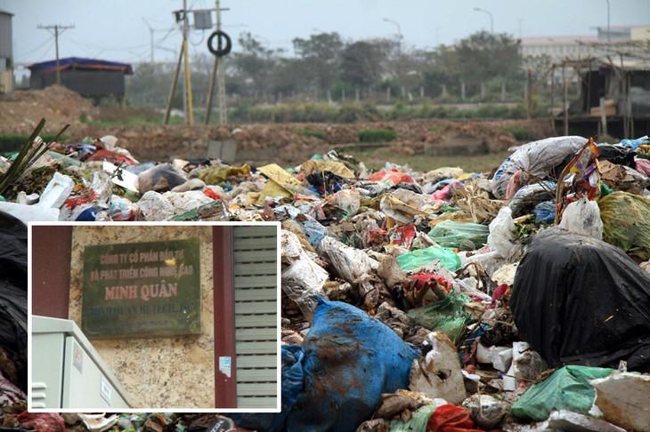 Sẽ xem xét chấm dứt hợp đồng với nhà thầu gom rác rồi mang đi đổ trộm? Ảnh: Ngọc Trí