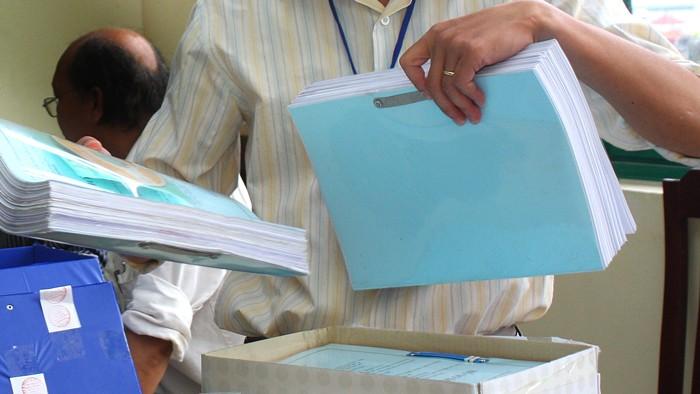 Do mời thầu gần như cùng lúc 2 gói thầu, Cục Thuế tỉnh Điện Biên đã phát hành nhầm hồ sơ mời thầu cho nhà thầu quan tâm. Ảnh: Tiên Giang