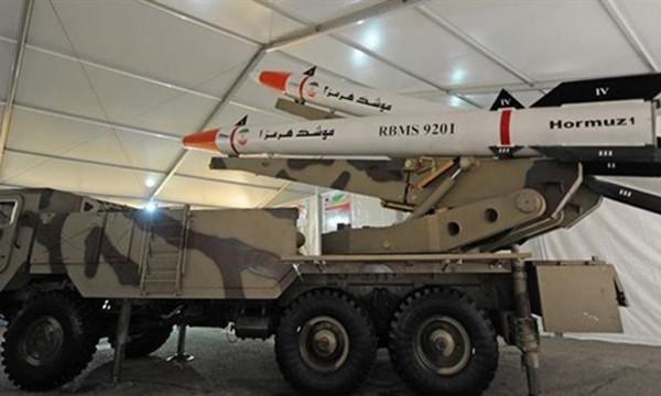 Tên lửa Hormuz-1 và Hormuz-2 do Iran tự sản xuất. Ảnh:Tasnim.