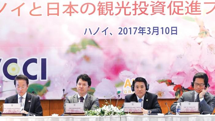 Tọa đàm, trao đổi xúc tiến đầu tư, du lịch giữa Hà Nội và Nhật Bản diễn ra tại Hà Nội. Ảnh: Trần Tuyết