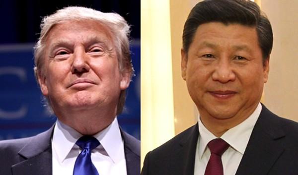 Tổng thống Mỹ Donald Trump và Chủ tịch Trung Quốc Tập Cận Bình. Ảnh:Wikicommons.