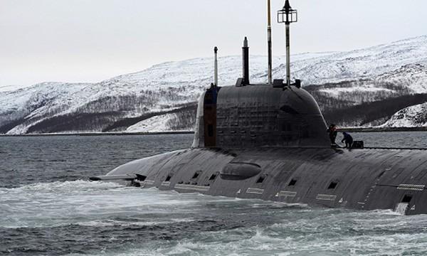 Tàu ngầm tấn công hạt nhân Yasen Đề án 885 của Nga. Ảnh:Tass.
