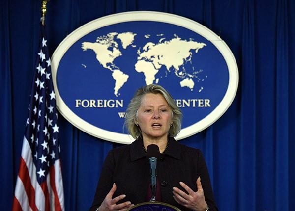 Trợ lý Ngoại trưởng Mỹ Susan Thornton (Ảnh: Xinhua)