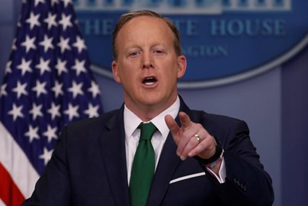 Người phát ngôn Nhà Trắng Sean Spicer. Ảnh:Reuters.