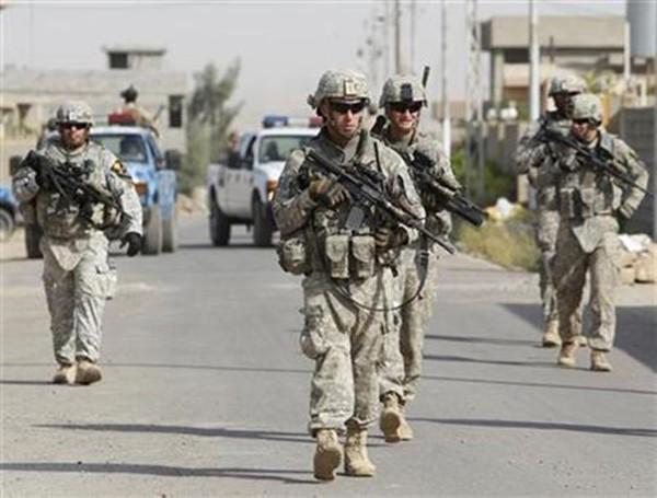Binh sĩ Mỹ tại Iraq. Ảnh:Reuters.