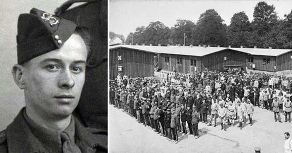Horace Greasley và một trại tù binh của Đức. Ảnh:War History.