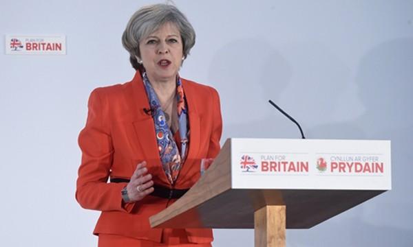 Thủ tướng Anh Theresa May. Ảnh:Reuters.