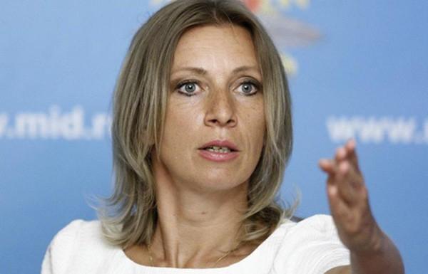 Maria Zakharova, phát ngôn viên Bộ Ngoại giao Nga. Ảnh:Tass