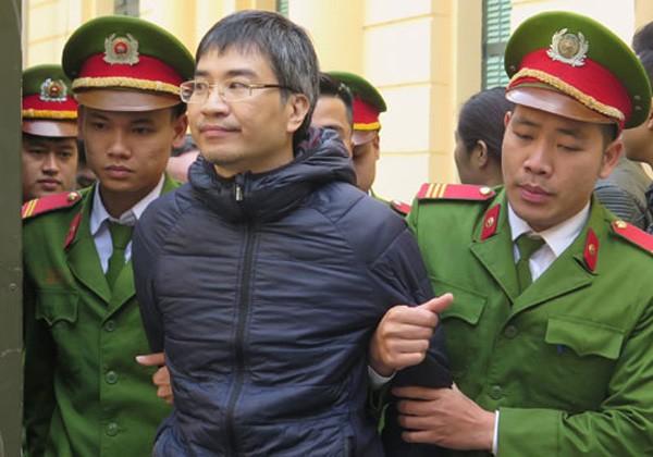 Giang Kim Đạt tại phiên tòa sơ thẩm.
