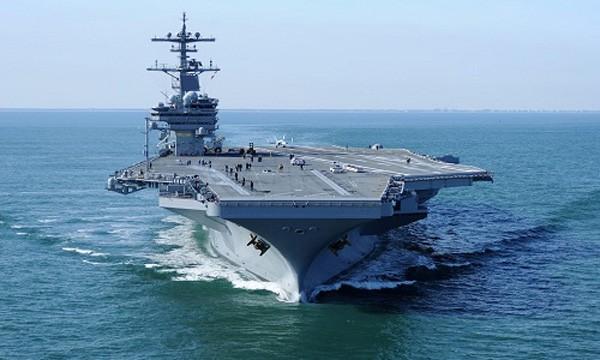 Tàu sân bay USS George H. W. Bush. Ảnh:US Navy