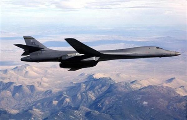 Máy bay ném bom B-1B của không quân Mỹ. Ảnh:Yonhap