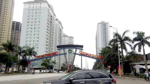 Một góc khu nhà ở thuộc Khu đô thị mới Xa La.