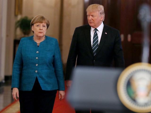 Tổng thống Mỹ Donald Trump và Thủ tướng Đức Angela Merkel có cuộc hội đàm đầu tiên tại Nhà Trắng. (Ảnh: Getty)