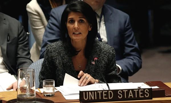 Đại sứ Mỹ tại Liên Hợp Quốc Nikki Haley. Ảnh:Reuters.