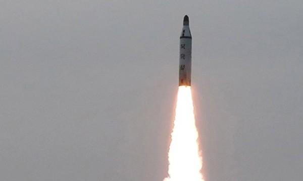 Tên lửa Triều Tiên trong một lần phóng thử. Ảnh:KCNA.