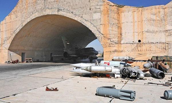 Một góc căn cứ không quân Shayrat. Ảnh:AP