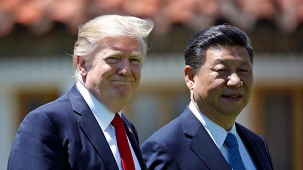 Tổng thống Mỹ Donald Trump và Chủ tịch Trung Quốc Tập Cận Bình. Ảnh:AP