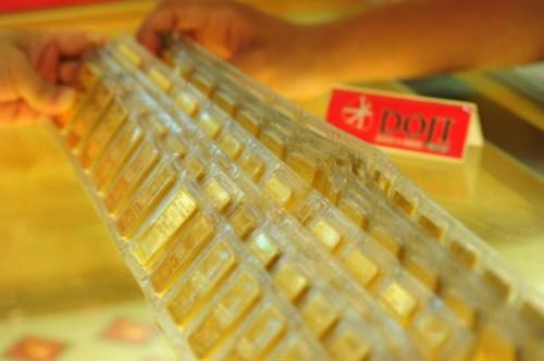 Giá vàng miếng trong nước sáng nay giảm nhẹ