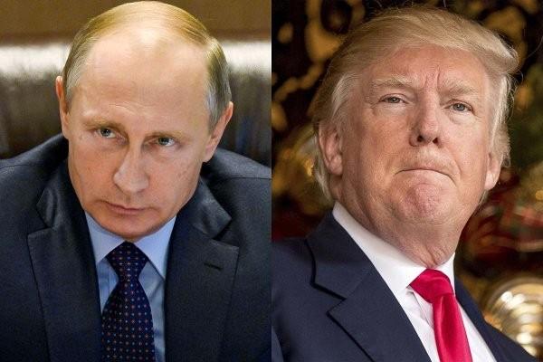 Tổng thống Nga Vladimir Putin (trái) và Tổng thống Mỹ Donald Trump. (Ảnh: AP)
