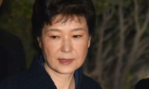 Cựu tổng thống Hàn Quốc Park Geun-hye. Ảnh:AP