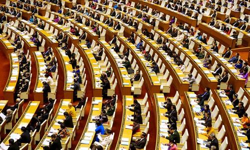 Kỳ họp thứ 3 Quốc hội khoá 14 sẽ làm việc trong gần một tháng. Ảnh:Giang Huy.
