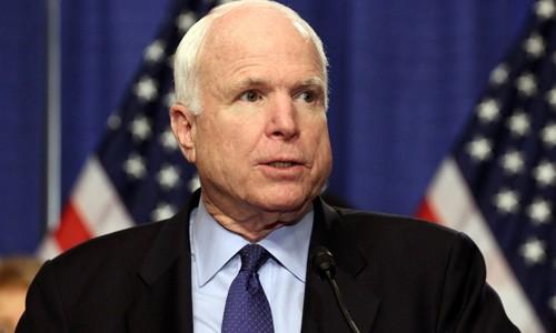 Thượng nghị sĩ Mỹ John McCain. Ảnh:VT