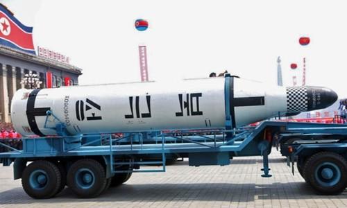 Tên lửa Pukguksong-2 của Triều Tiên. Ảnh:KCNA