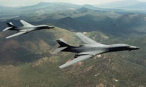 Máy bay ném bom chiến lược B-1B của Mỹ. Ảnh:Reuters