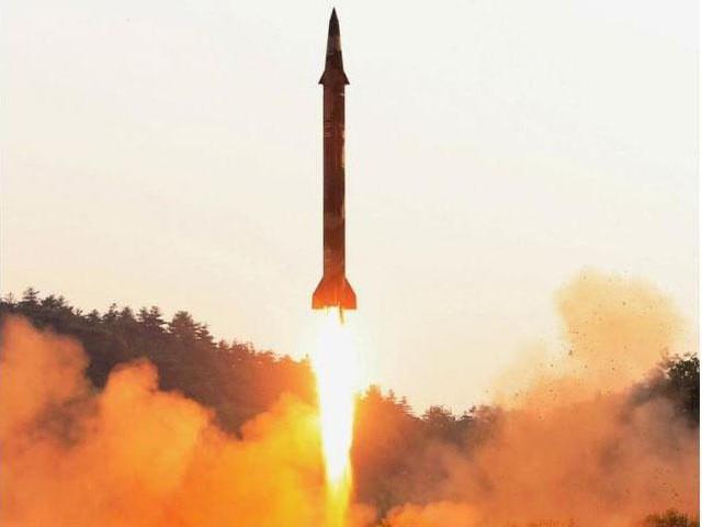 Hình ảnh được cho là từ vụ thử tên lửa mới nhất của Triều Tiên. (Ảnh: KCNA)