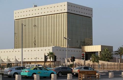 Ngân hàng trung ương Qatar ở thủ đô Doha. Ảnh:Reuters.