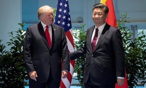 Tổng thống Mỹ Trump và Chủ tịch Trung Quốc Tập Cận Bình gặp nhau hồi tháng 7. Ảnh:Reuters
