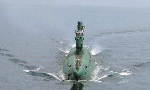Một tàu ngầm tấn công của hải quân Triều Tiên. Ảnh:Japan Times.