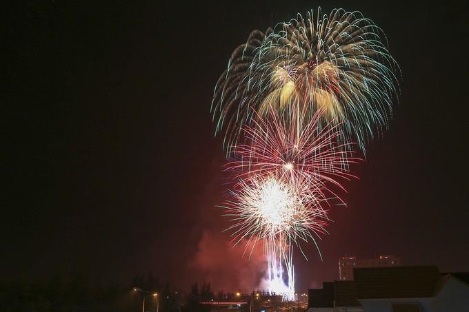 Màn pháo hoa tượng trưng cho 21 nền kinh tế APEC