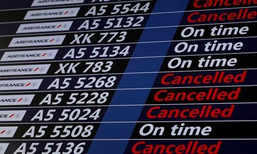 Một số chuyến bay của Air France bị hoãn vì đình công. Ảnh:RFI