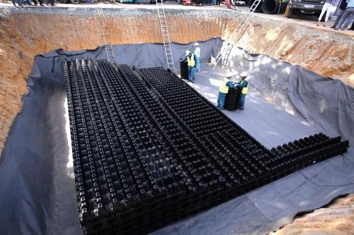 Hồ điều tiết ngầm xây dựng ở Nhà thiếu nhi quận Thủ Đức bước đầu đã có hiệu quả chống ngập. Ảnh:Hữu Nguyên