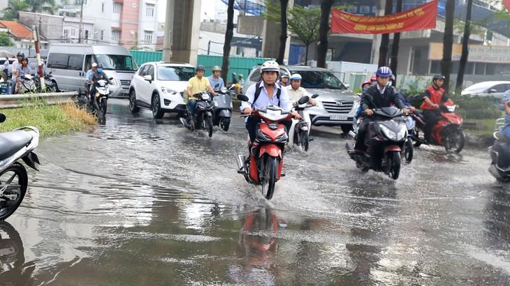 Dự án Giải quyết ngập do triều khu vực TP.HCM có xét đến yếu tố biến đổi khí hậu (giai đoạn 1) đầu tư theo hình thức BT do Trung Nam Group làm nhà đầu tư. Ảnh: Hoài Tâm