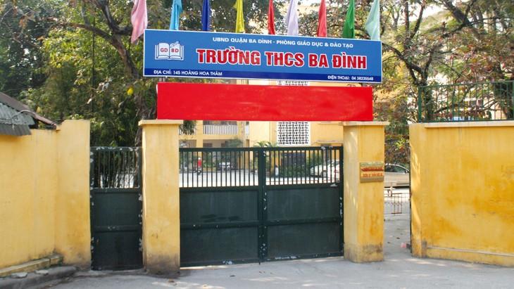 Việc phát hành hồ sơ yêu cầu tại các trường THCS Ba Đình, Tiểu học Ba Đình, THCS Phan Chu Trinh và THCS Mạc Đĩnh Chi ở Hà Nội đang bị nhà thầu khiếu nại. Ảnh: NC st